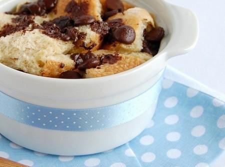 Pudim de Pão com Gotas de Chocolate