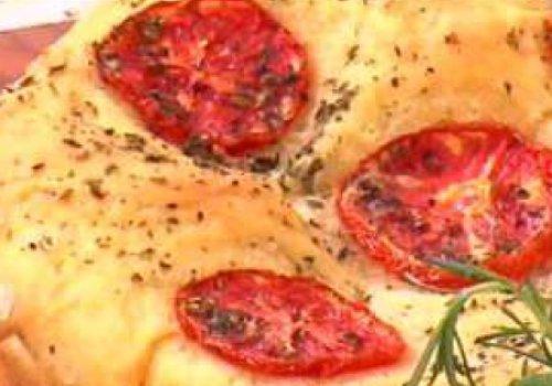 Torta/pizza de presunto e queijo