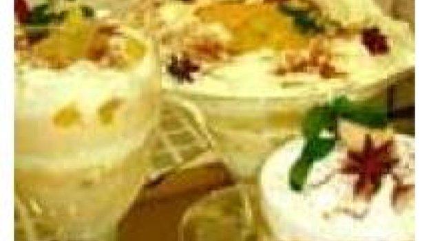 Pavê Caramelado com Abacaxi em Calda