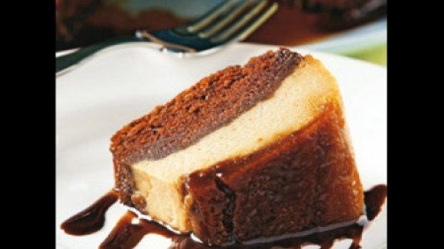 Bolo-pudim de Chocolate