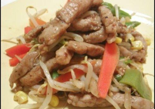 Chop chuey de porco