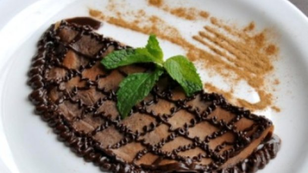 Panqueca com chocolate