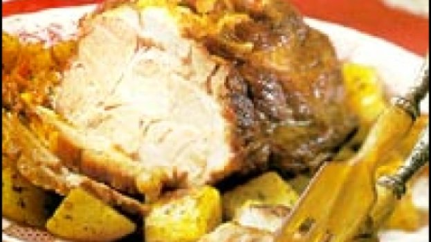 Lombo de porco com batatas