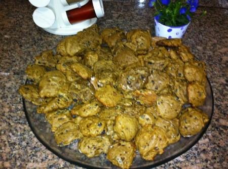 Biscoitos Coloridos de Coalhada com Especiarias