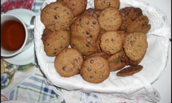 Cookies de Aveia com Gotas de Chocolate