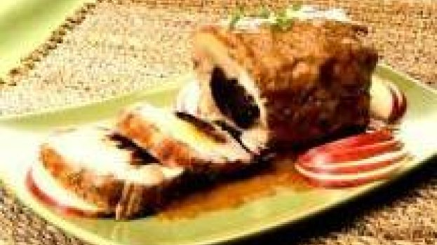 Lombo Recheado com Ameixa e Bacon