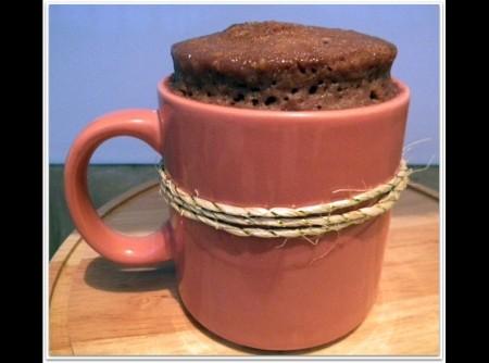 Bolo de Caneca de Chocolate tradicional (cupcake)