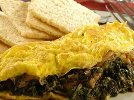 Omelete de Espinafre com Linguiça - Fácil e Rapido