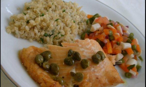 salmon delicioso d'minuto