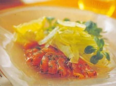 Carpaccio de salmão com valeriana e dill | Aurélia de Fátima Cardoso