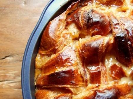 Pudim de Croissant e Caramelo