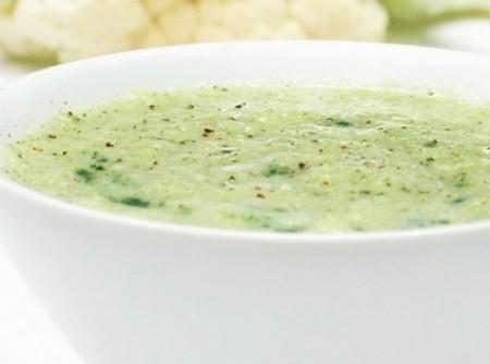 Sopa Creme de Brócolis e Couve-Flor   CyberCook