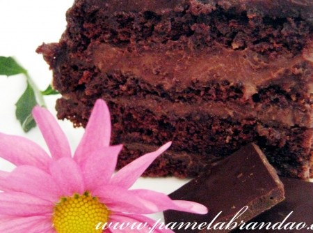 TORTA - Torta Pudim de Chocolate com Cobertura de Ganache