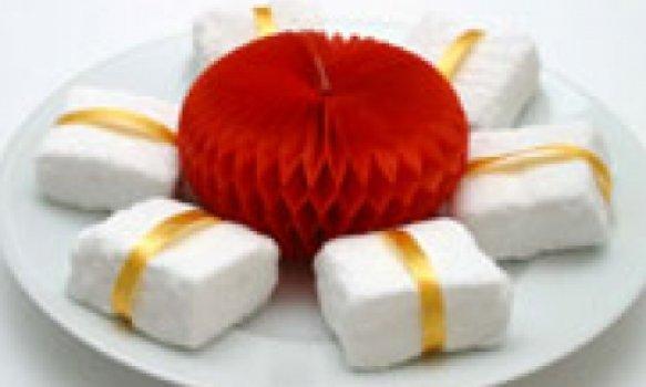 Marshmellow caseiro (em pedaço)