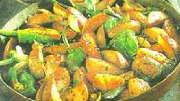 Frigideiras de Batatas com Pimenta Doce