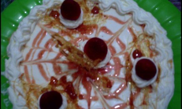 bolo de morango com chantily