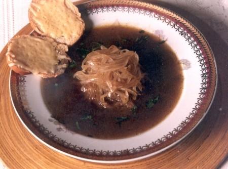 Sopa de cebola de Microondas