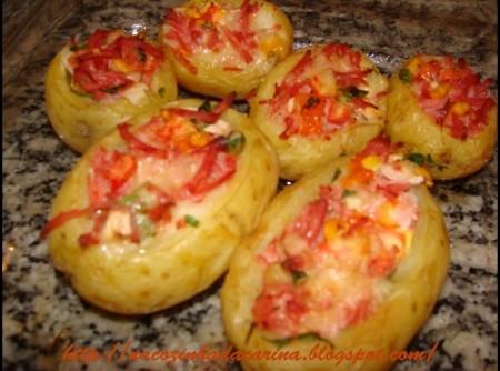 Batatas Recheadas com Frios