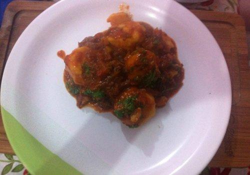 Nhoque Recheado com Molho de Carne Maluca