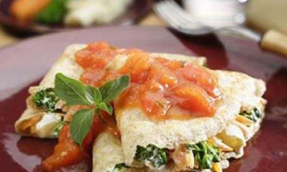 Panqueca integral de legumes