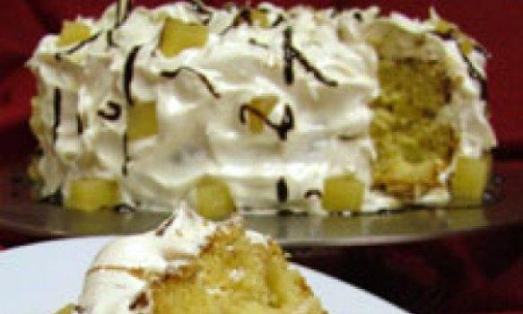 Torta de Abacaxi com Marshmellow