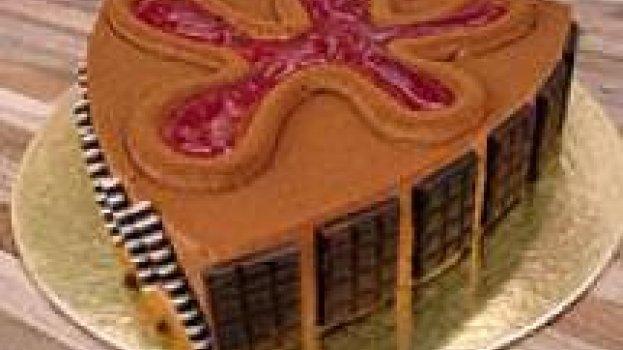 Torta Mousse de Chocolate com Pão de Ló e Framboesa