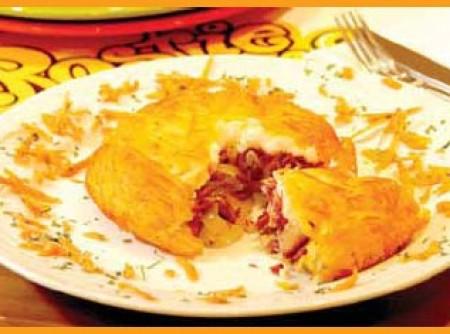 Batata Rosti de Carne Seca e Requeijão