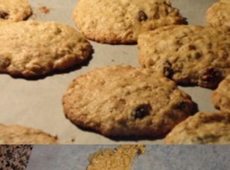 Biscoitos de Aveia e Passas