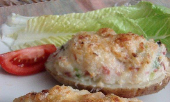 Batatas Recheadas com Queijo Gruyère