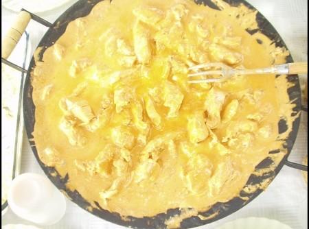 Peito de frango ao curry e especiarias!!! no disco de arado!