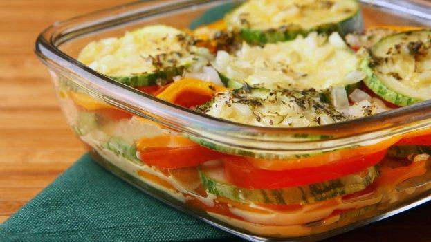 Abobrinha e Tomates Assados