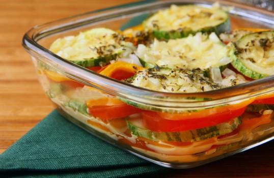 Abobrinha e Tomates Assados   Becel