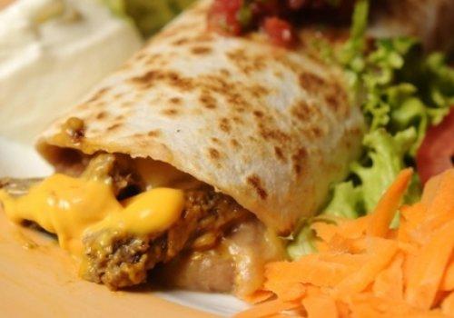 Burritos de filet com cheddar