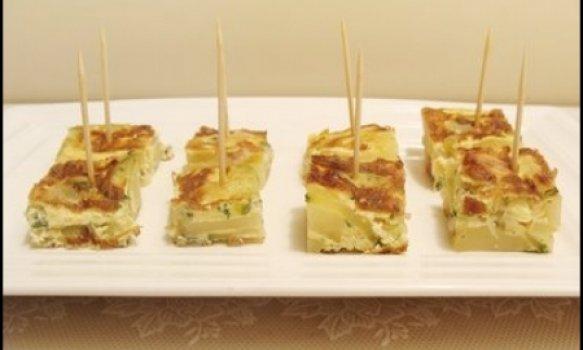 Tortillas de Batata, Bacon e Abobrinha