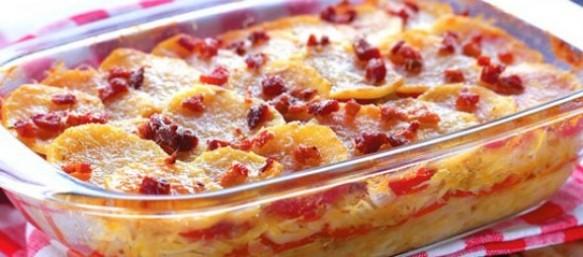 Batatas com Bacon e Calabresa