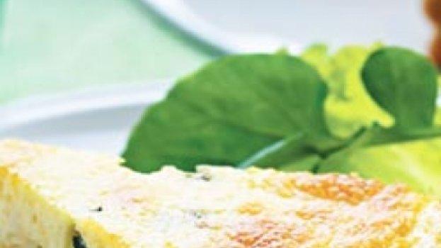 Cheesecake de Espinafre e Parmesão
