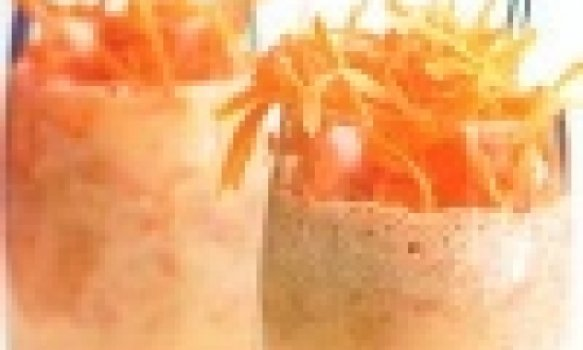 Batida de cenoura, maca e laranja