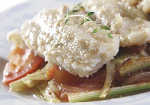 Bacalhau com Erva-doce e Tomate