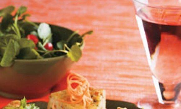 Torta de arroz com requeijão