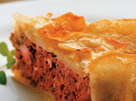 Torta de batata e carne