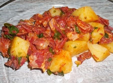 Carne Seca com Batatas