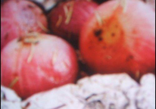 Cebola roxa assando com ervas light