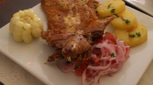 A receita inca de picante e chancho - pernil de porco picante