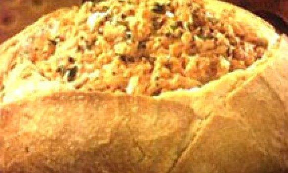 Creme de Frango no Pão Italiano