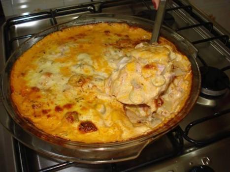 Gratinado de batata com presunto e queijo   Aline Fonseca