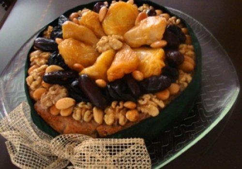 bolo de frutas seca