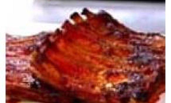 costelinha de porco bronzeado