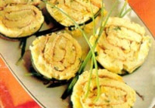 Rotolini de fritada de alho poró