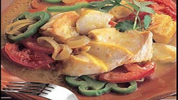 Bacalhau com Curry e Legumes
