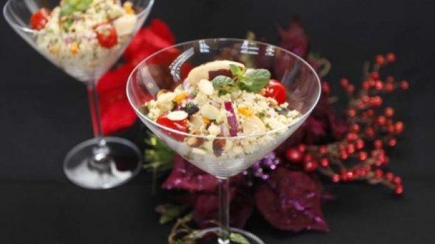 Salada de cuscuz marroquino com legumes
